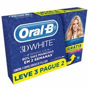 CREME DENTAL ORAL-B 3D WHITE 70GRAMAS LEVE 3 PAGUE 2