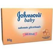 SABONETE J&J  BABY GLICERINADO MEL E VITAMINAS 80GRAMAS