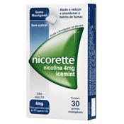 NICORETTE 4MG COM 30 GOMAS MASTIGÁVEIS
