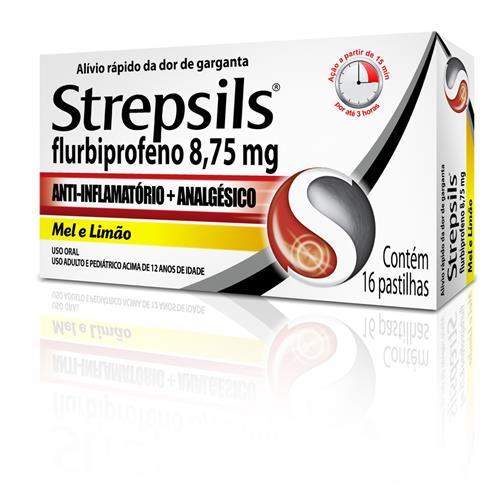 STREPSILS COM 16 PASTILHAS SABOR MEL/LIMÃO