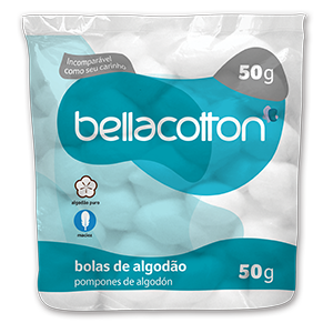 ALGODÃO BOLAS BELLACOTTON 50GRAMAS